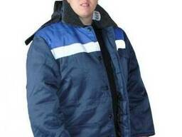 """Зимняя мужская рабочая куртка """"Бригадир"""" с меховым ворот."""