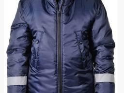Зимняя рабочая куртка Аляска тк. Оксфорд, темно-синяя