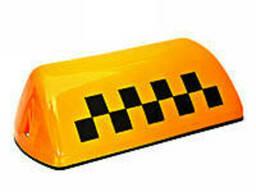 Знак такси крепление на две стороны (9006)