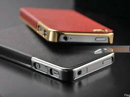 Золотистый чехол OYO Gold кожа PU с велюром для iPhone 4 4