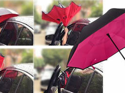 Зонт наоборот Up-Brella Ветрозащитный | Крепкий