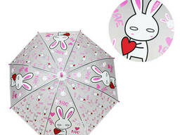 Зонтик детский METR+ трость (Зайчик) (MK 4115-1)
