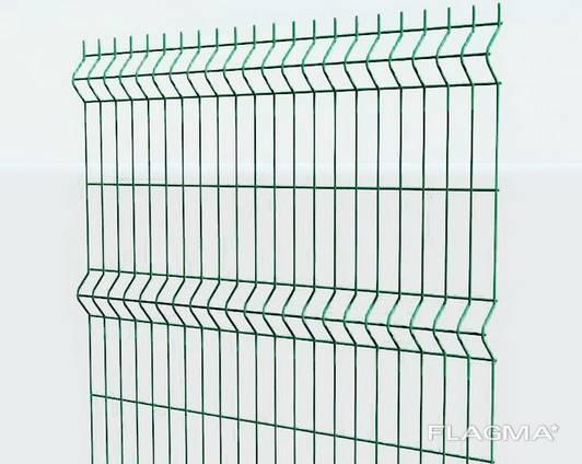 Зварна сітка 3D для огорожі з ПВХ/ППЛ покриттям