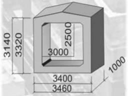 Звено прямоуг труб ЗП 17.100; ЗП 18.100 дорожных сооружений