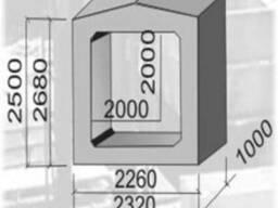 Звено прямоугольных ЗП 11.100; ЗП 12.100 для дорож сооруж