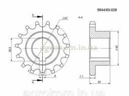 Звездочка привода малого сортировочного стола ANNA 564463026 z-15, шаг 12.7 мм, d-25