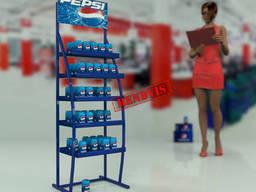 Напольная стойка для воды Pepsi