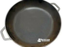 Сковорода чугунная жаровня с литыми ручками Ø 280 мм